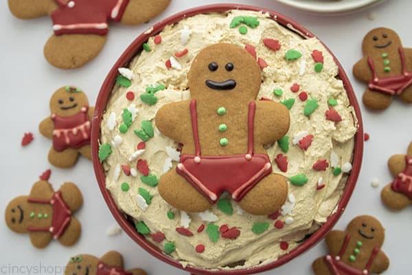 Bowl of gingerbread dip