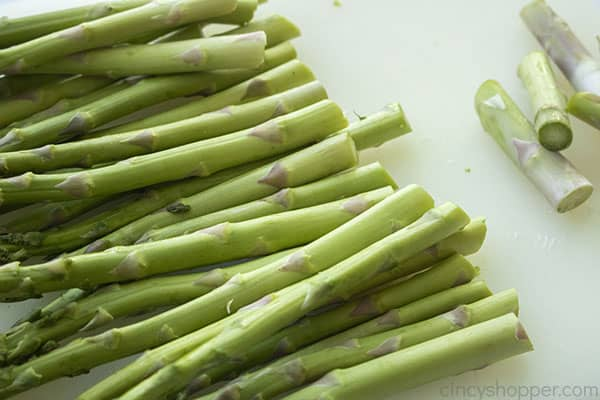 Trimmed asparagus