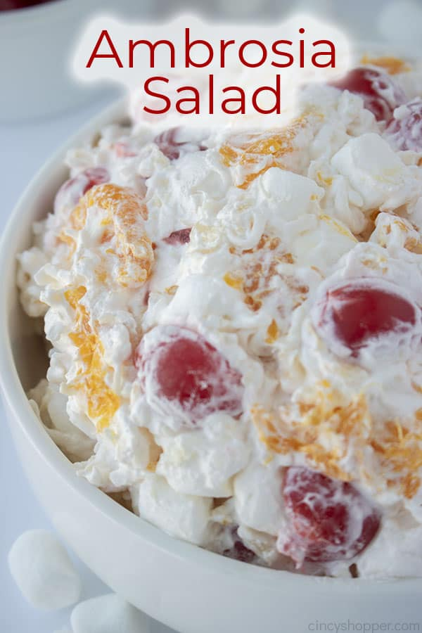 Text on image Ambrosia Salad
