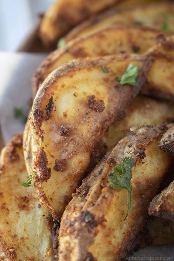 Oven potato wedges with seasonings