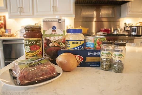 Ingredients for Pasta in Instant Pot
