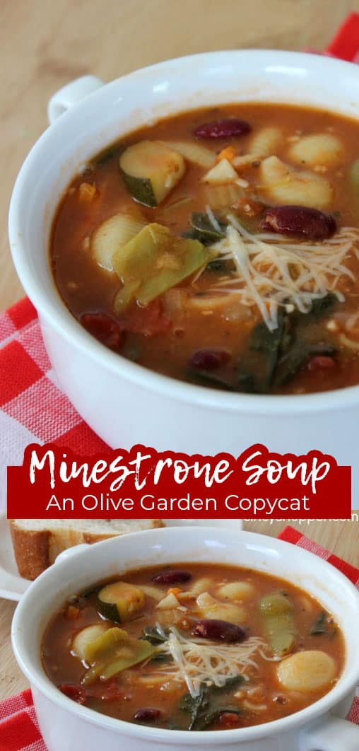 Long pin collage Minestrone Soup An Olive Garden CopyCat