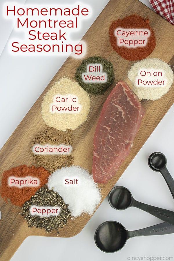 Text on image Homemade Montreal Steak Seasoning