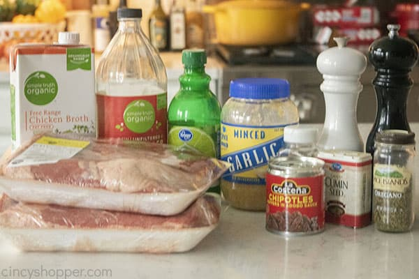 Ingredients to make homemade Barbacoa
