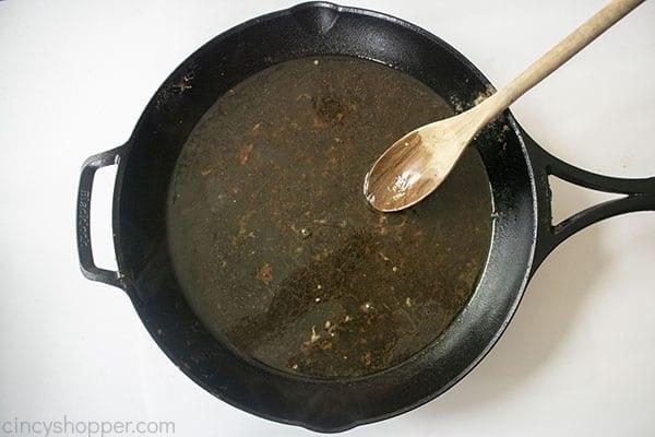 Deglazed pan