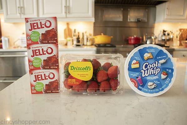 Ingredients to make Jello Parfaits