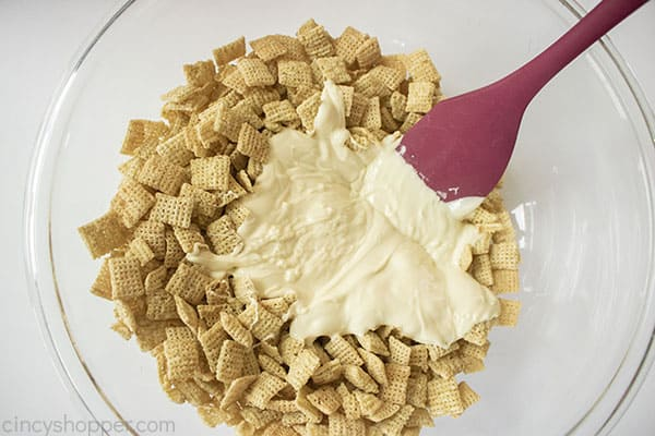 White Chocolate added to Chex Rice Cereal