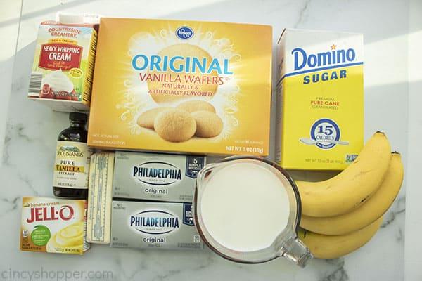 Banana Cheesecake Ingredients