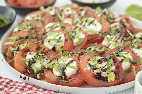 Fresh tomato Caprese Mozzarella Salad