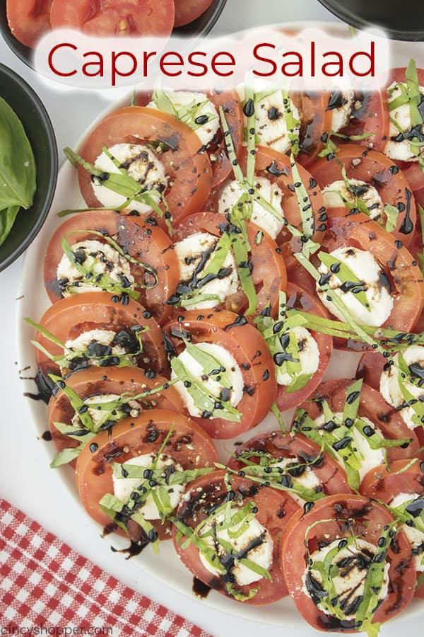 Text on image Caprese Salad