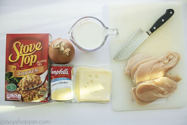 Swiss Chicken Bake Ingredients