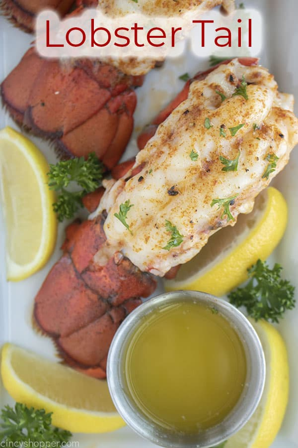Text on image Lobster Tail