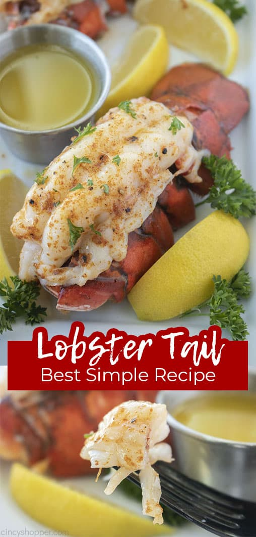 Long pin collage with Text Lobster Tail Best Simple Recipe