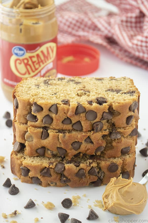 Peanut Butter bread slices