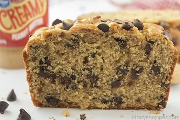 Fresh baked Peanut Butter Chocolate Chip Bread