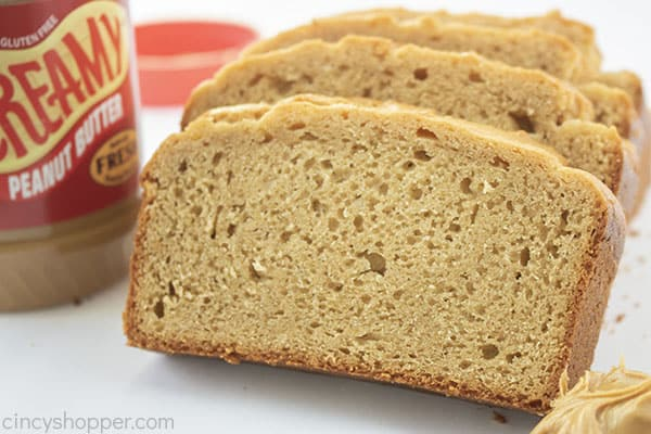 Fresh homemade peanut butter bread