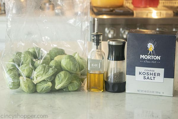 Ingredients for the Best roasted Roasted Brussel Sprouts