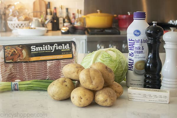 Ingredients for Irish Potatoes and Cabbage
