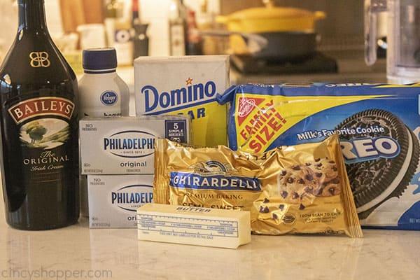 Ingredients for Irish Cream Cheesecake