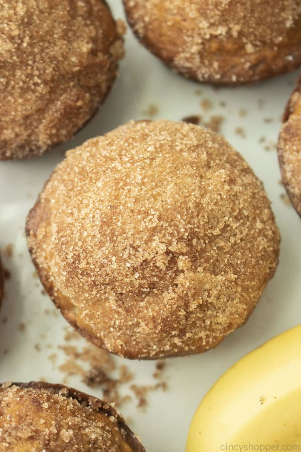 Cinnamon Sugar topped banana muffins