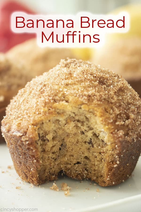 Text on image Banana Bread Muffins