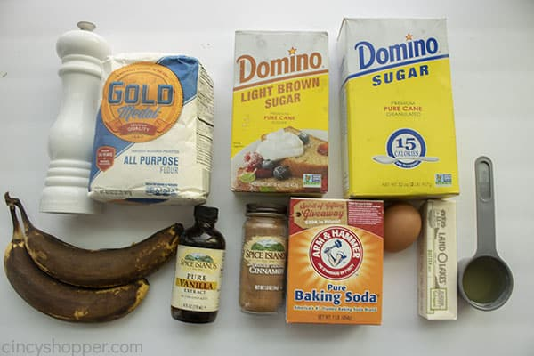Ingredients for Banana Muffins