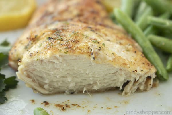 Lemon Pepper Chicken breast sliced