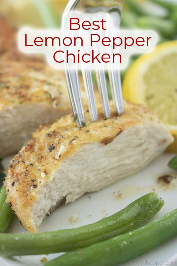 Text on image Best Lemon Pepper Chicken