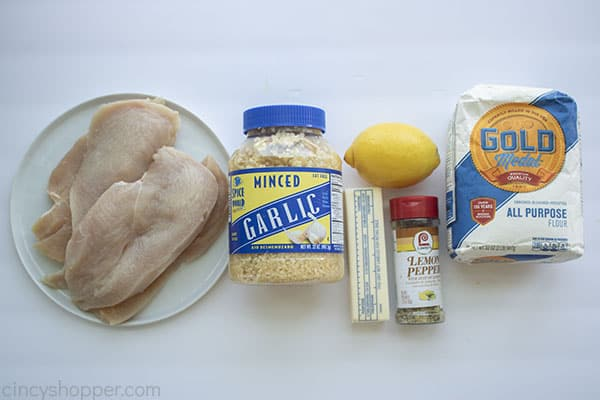 Ingredients for lemon pepper chicken