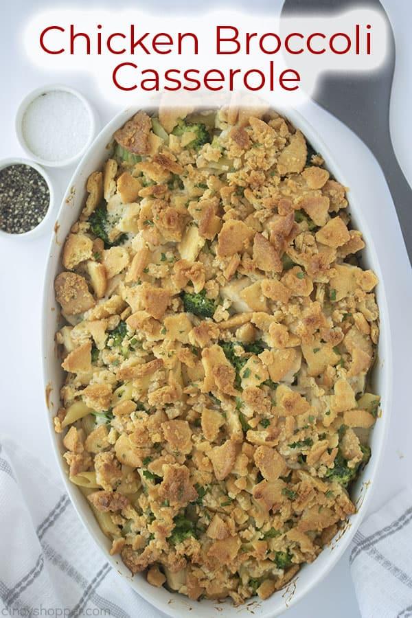 Text on image Chicken Broccoli Casserole