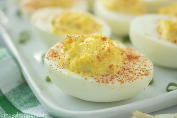 Best Deviled Eggs on a plate