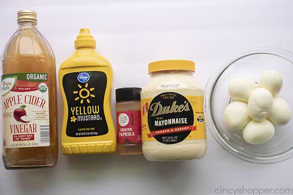 Ingredients for BEST Deviled Eggs