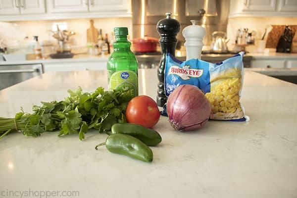 Ingredients for Corn Pico de Gallo