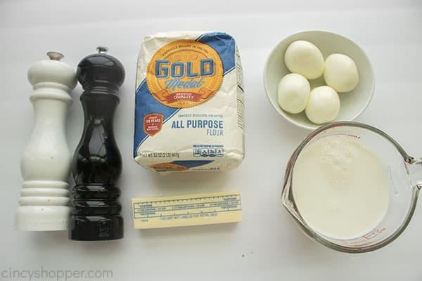 Ingredients for Eggs Goldenrod