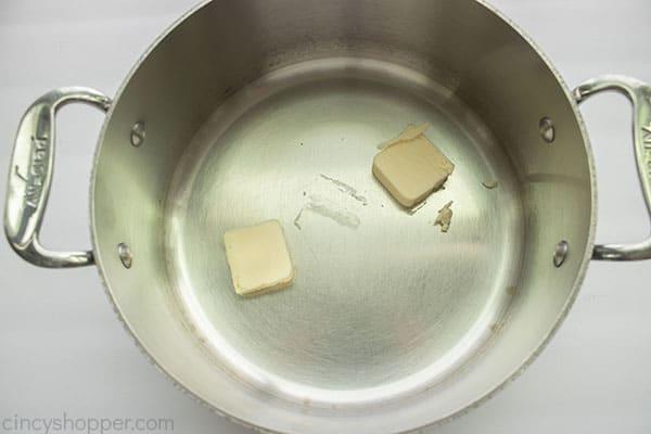 Butter in saucepan