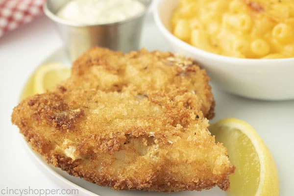 Easy fried fish on a plate