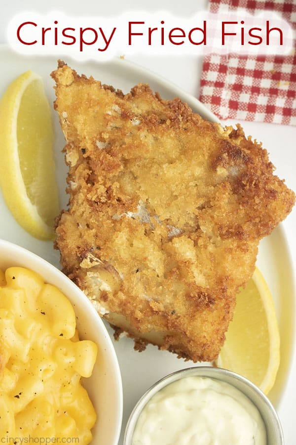 Text on image Crispy Fried Fish