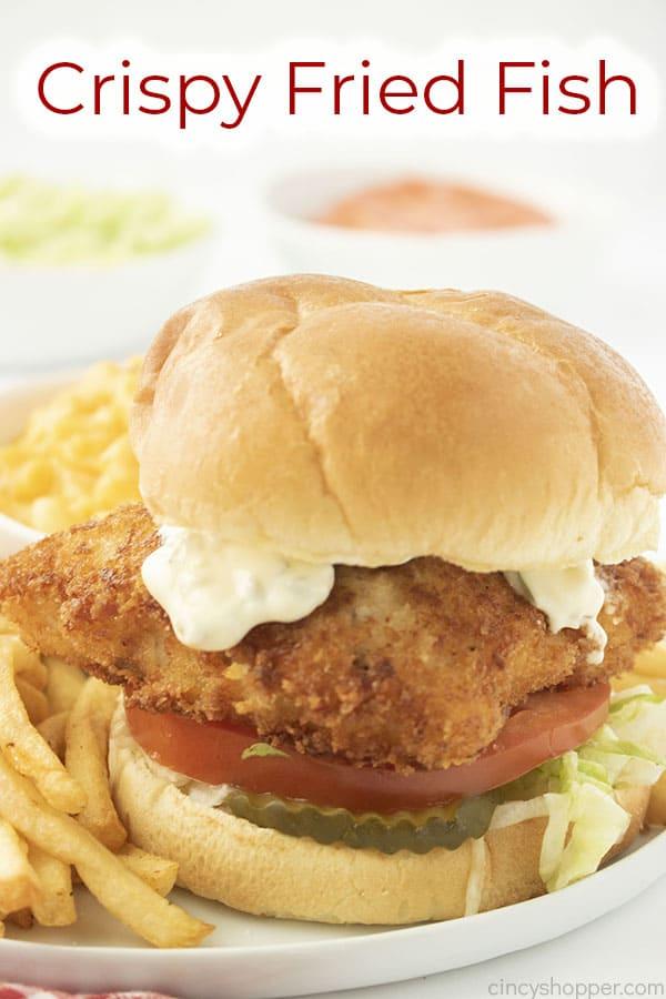 Text on image Crispy Fried Fish