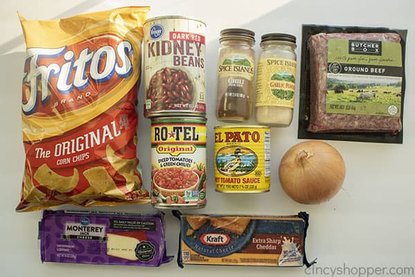 Ingredients for Frito Taco Casserole