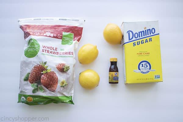 Ingredients for Frozen lemonade