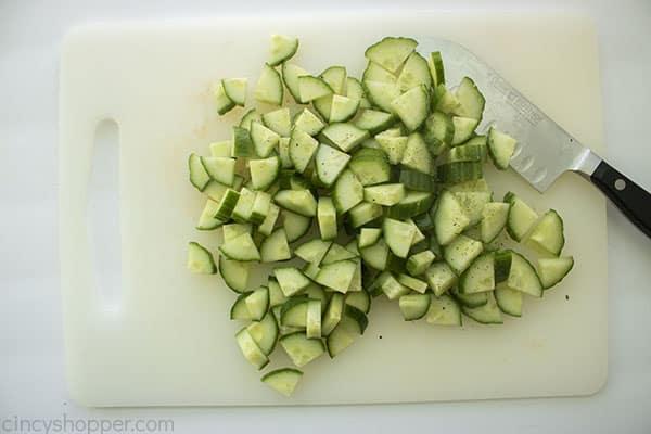 Diced cucumber