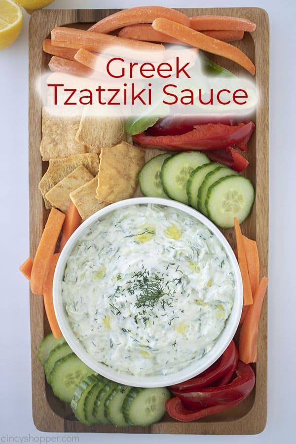 Text on image Greek Tzatziki Sauce