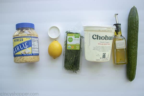 Tzatziki Sauce Ingredients
