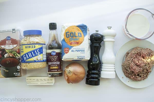 Ingredients for Hobo Gravy