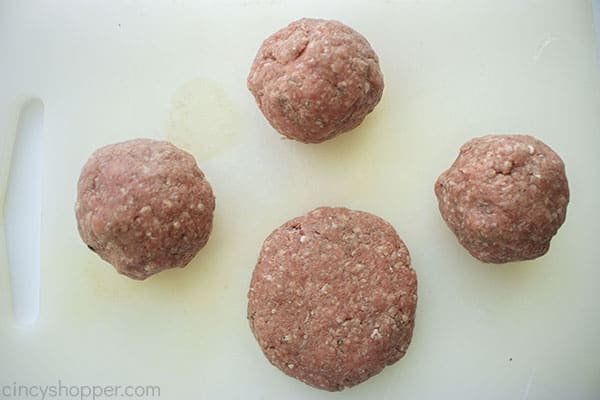 Formed ground beef patties