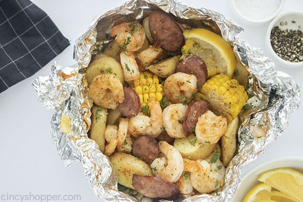 Oven baked Low Country Boil Packet