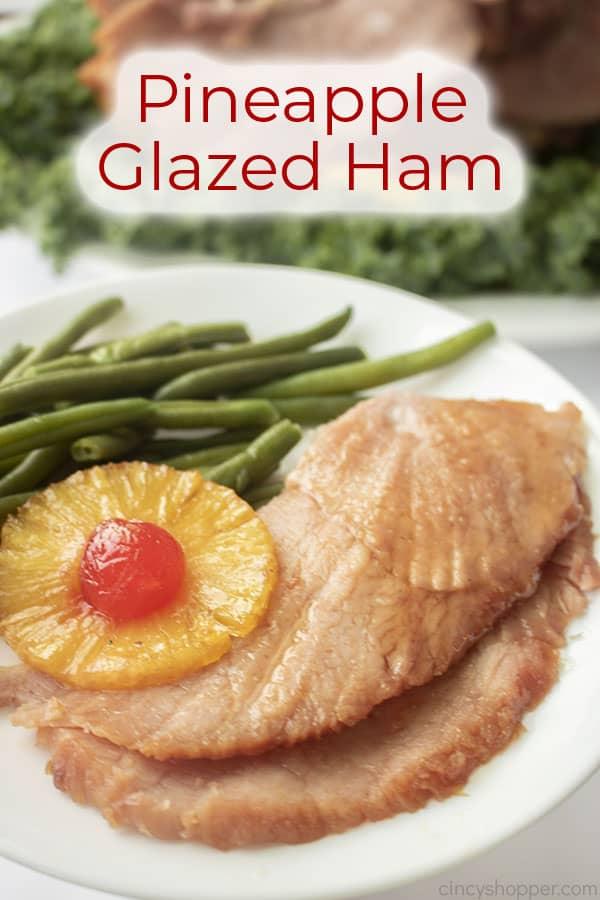 Text on image Pineapple Glazed Ham