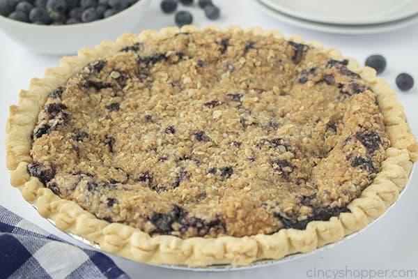 Creamy Custard Blueberry pie