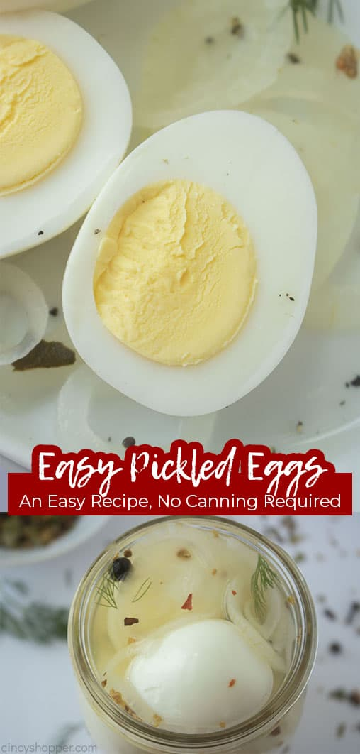 Long pin collage Easy Pickled Eggs an Easy Recipe, No Canning Required