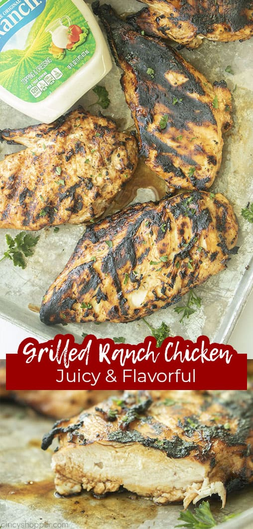 Long pin Grilled Ranch Chicken Juicy & Flavorful